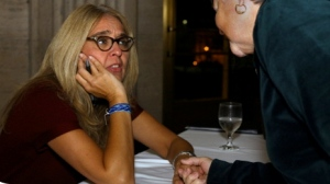 Talking shop with Ann Hood over dinner